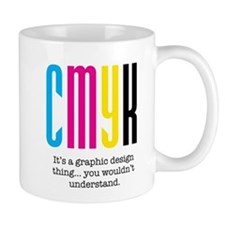 cmyk design thing Small Mug