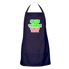 SAVE THE TREES!! Apron (dark)