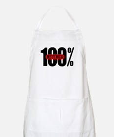 100 Percent Retired BBQ Apron