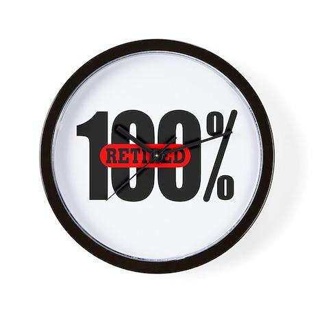 100 Percent Retired Clock
