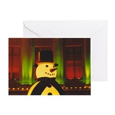 Lighted Snowman Greeting Card