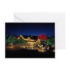 Lighted Farm House Greeting Card