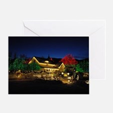 Lighted Farm House Greeting Card