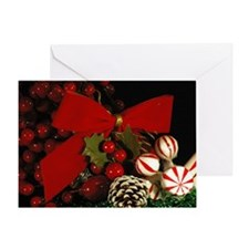 Peppermint & Bows Greeting Card