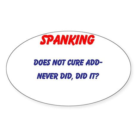 Spanking ADD Oval Sticker