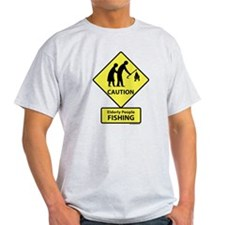 Elderly People Fishing T-Shirt