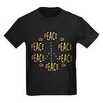 PEACE LOVE AND JOY Kids Dark T-Shirt