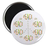 """PEACE LOVE AND JOY 2.25"""" Magnet (10 pack)"""
