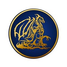"""Gold Dragon 3.5"""" Button (100 pack)"""