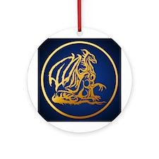 Gold Dragon Ornament (Round)