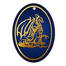 Gold Dragon Oval Ornament
