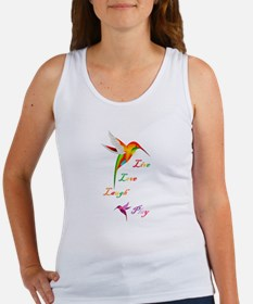 Hummingbird Live Love Laugh P Women's Tank Top