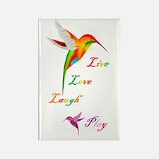 Hummingbird Live Love Laugh P Rectangle Magnet