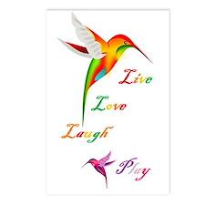 Hummingbird Live Love Laugh P Postcards (Package o