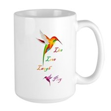 Hummingbird Live Love Laugh P Mug