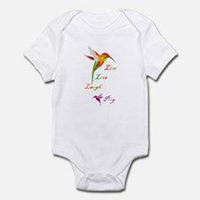 Hummingbird Live Love Laugh P Infant Bodysuit