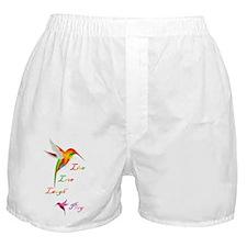 Hummingbird Live Love Laugh P Boxer Shorts