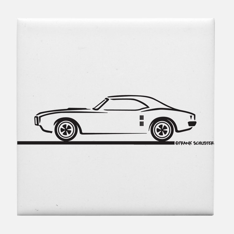 1968 Pontiac Firebird Tile Coaster