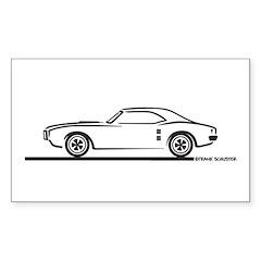 1968 Pontiac Firebird Rectangle Decal