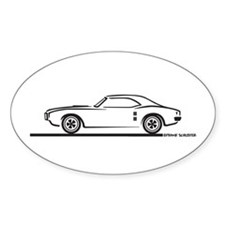1968 Pontiac Firebird Oval Decal