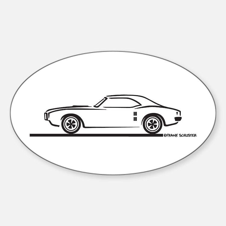 1968 Pontiac Firebird Oval Decal