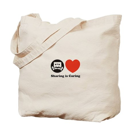 sharing is caring, pro piracy Tote Bag