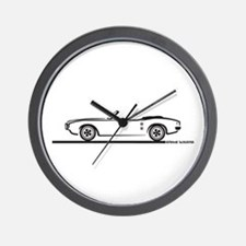 1968 Pontiac Firebird Convertible Wall Clock