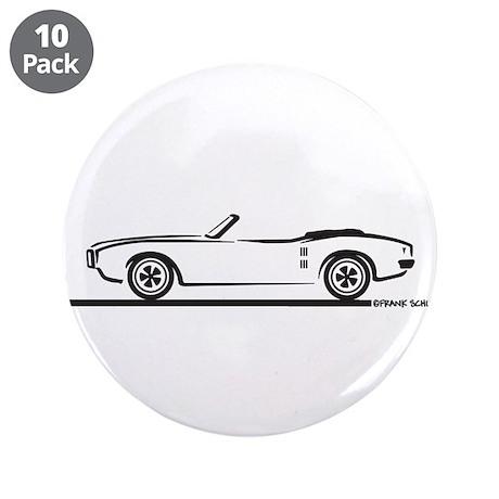 "1968 Pontiac Firebird Convertible 3.5"" Button (10"