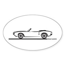 1968 Pontiac Firebird Convertible Oval Decal