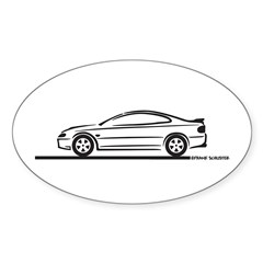 2004-06 Pontiac GTO Oval Decal