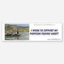Support My Habit (GRNPONTOON) - Sticker (Bumper)