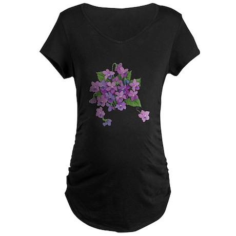 Violets Maternity Dark T-Shirt