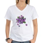 Violets Women's V-Neck T-Shirt