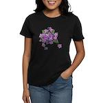 Violets Women's Black T-Shirt