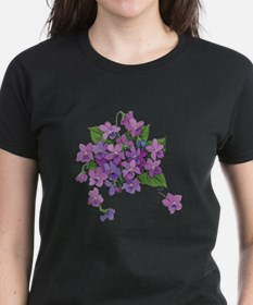 Violets Women's Black T-Shirt