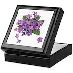 Violets Keepsake Box