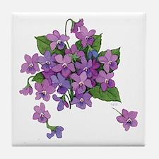 Violets Tile Coaster
