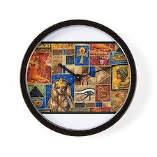 Egyptian Art Wall Clock