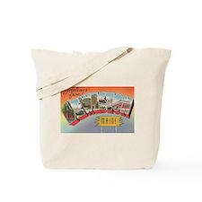 Lewiston Maine Vintage Post Card Tote Bag