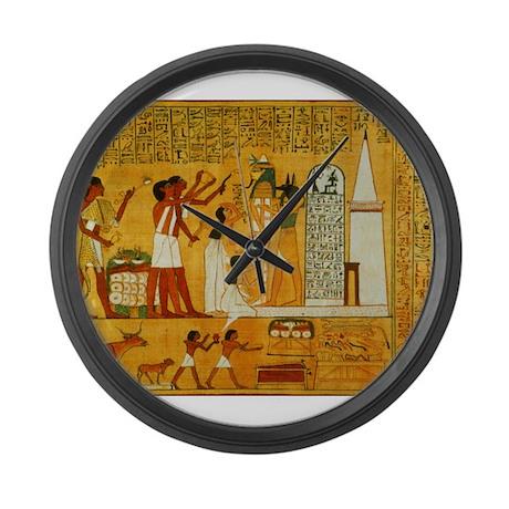 Egyptian Art Large Wall Clock