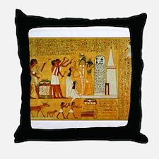 Egyptian Art Throw Pillow