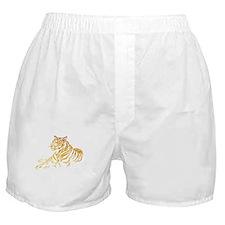 Gold Tiger Boxer Shorts