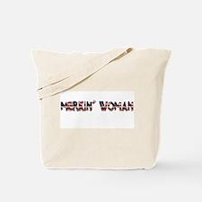 Merkin' Woman Tote Bag