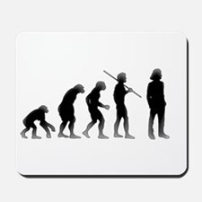 Evolution of Man The Mullet Mousepad
