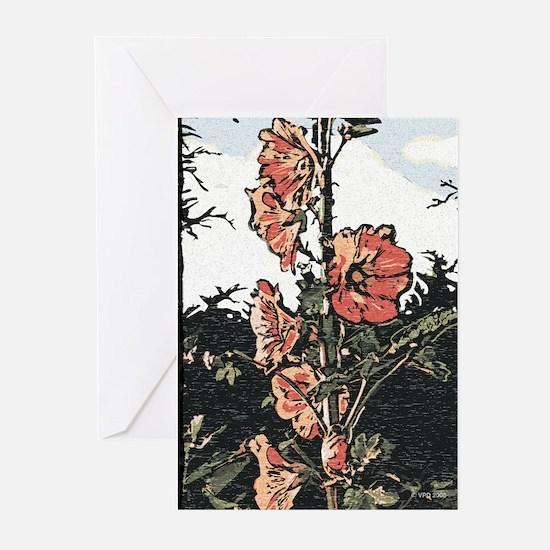 Hollyhock Art Card (Pk of 10)
