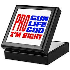 Pro Gun Pro Life Pro God Keepsake Box
