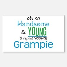 Handsome and Young Grampie Rectangle Decal
