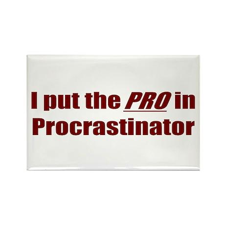 I put the PRO in Procrastinator Rectangle Magnet