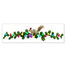 Squirrel Christmas Lights Bumper Bumper Sticker