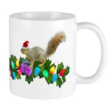 Squirrel Christmas Lights Mug